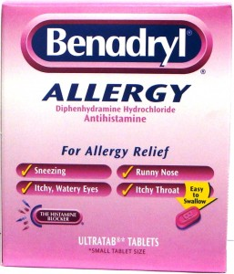 Benadryl is good for allergy related problems such as itching