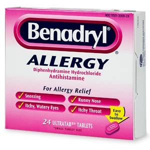 Benadryl dog allergy relief