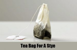 tea bag for dog stye